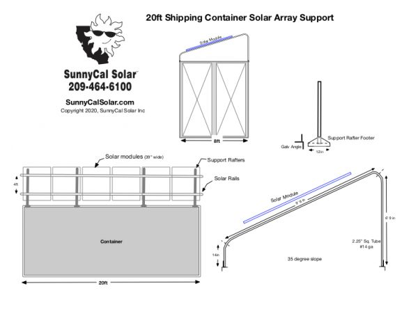 Shipping Container Solar Structure