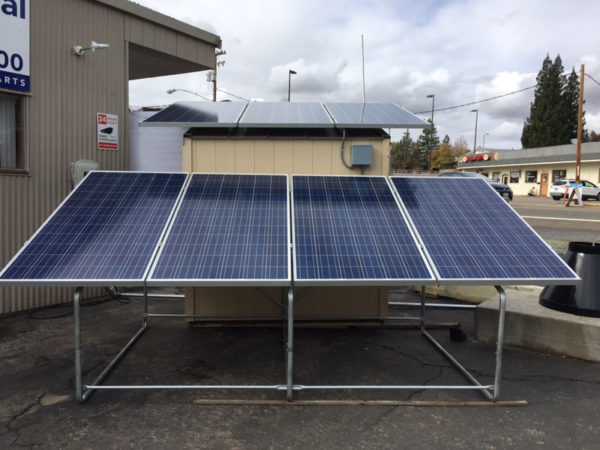 FEMA-1 with solar modules installed