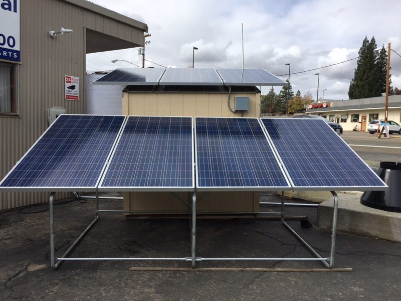 Solar Support And Array Collapsible 1200w Of Modules Sunnycal Solar Inc