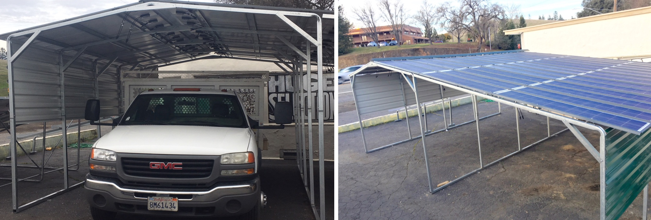 Home Solar Carport System : Sunnycal solar provides carport for homes and businesses
