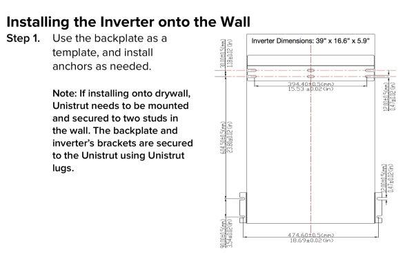 Darfon 5kW Inverter Install Dimensions