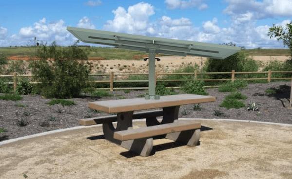 Solar Powered Picnic Table Rectangular X SunnyCal Solar - Solar picnic table