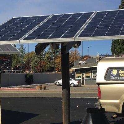 Solar array for solar well pump