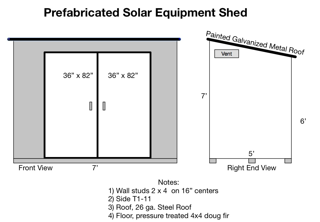 Prefabricated Solar Shed