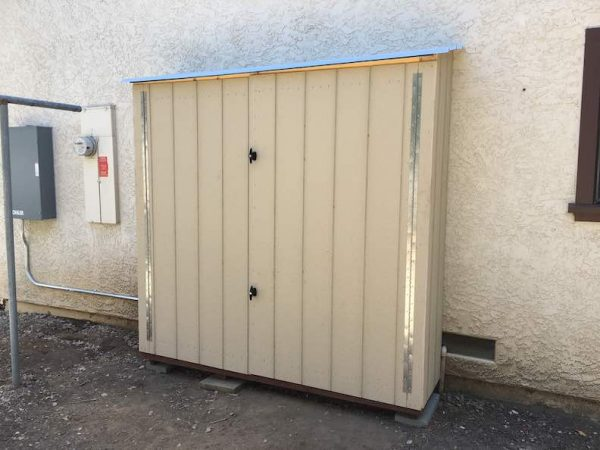 Solar Shed for Battery Storage
