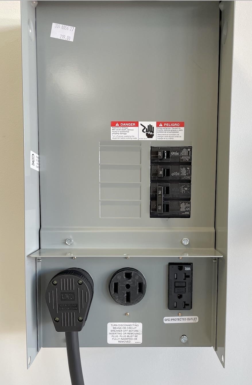 Dual EV Power Panel