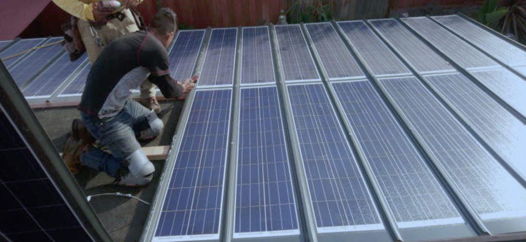 Steel Roof Solar on Tiny House