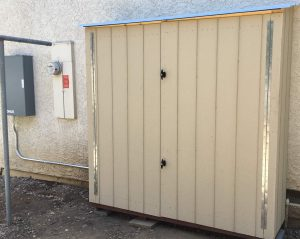 Solar Equipment Shed