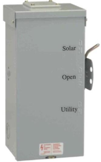 200A Solar/Utility Manual Transfer Switch
